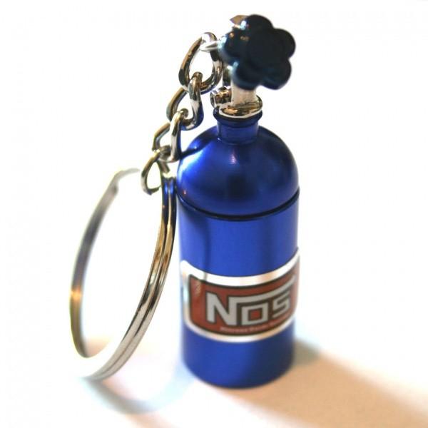 NOS Flasche Nitro Schlüsselanhänger in Blau