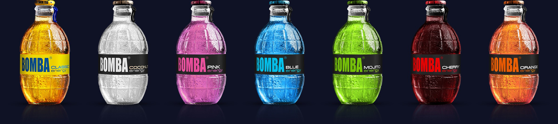 Alle Bomba-Energy Drinks wieder an Lager